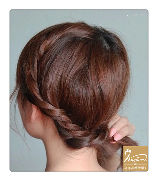 齐肩发怎么扎好看~超实用的发型编发教程! - 婚嫁礼仪图片